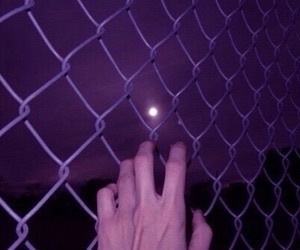 aesthetic, moon, and purple image