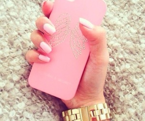 iphone, nail, and watch image