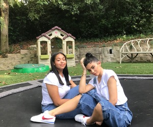 kylie jenner, jordyn woods, and style image