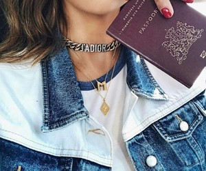 dior, fashion, and passport image