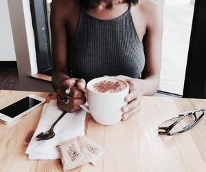 coffee, fashion, and girl image