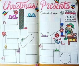 christmas, present, and bullet journal image