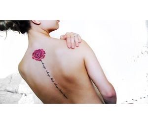 flower, rose, and flower tattoo image