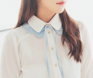 blue, girl, and korean image