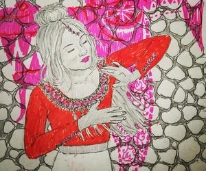 artwork, dragon, and illustration image