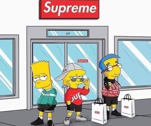 supreme, simpsons, and cartoon image