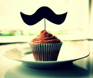 yummy, cupcake, and moustache image