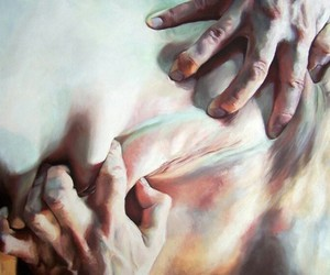 art, painting, and hands image