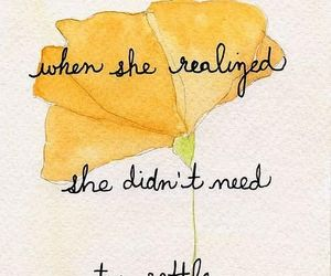 quotes, flower, and settle image