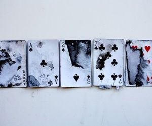 cards, grunge, and black image
