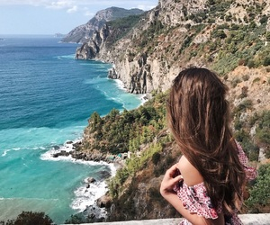 italy, ocean, and roadtrip image