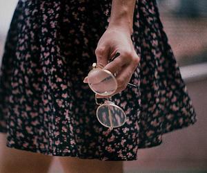 dress, glasses, and vintage dress image
