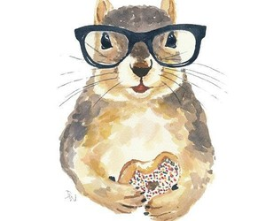 squirrel, animal, and glasses image
