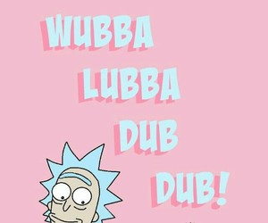 wallpaper, rick and morty, and pink image