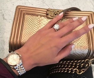 nails, chanel, and ring image