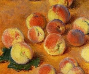peach, art, and monet image