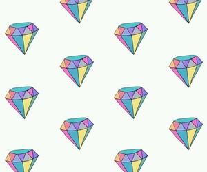wallpaper, diamond, and pattern image