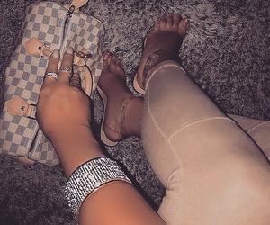 diamonds, heels, and Louis Vuitton image