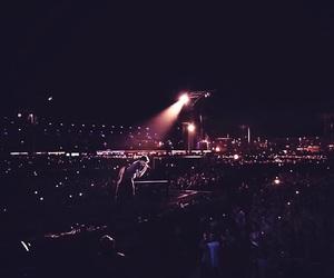 concert, crowd, and dark image