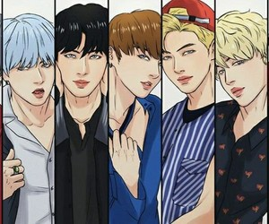 bts, jin, and bangtan image