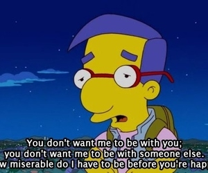simpsons, milhouse, and quotes image