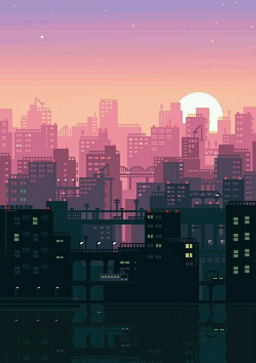 city, gif, and wallpaper image