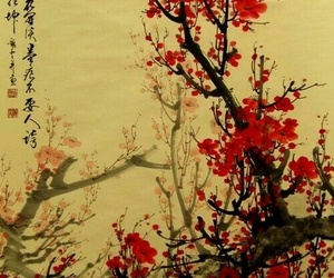 art, blossom, and japan image