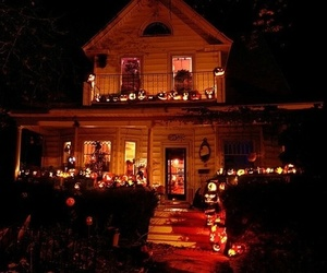 Halloween, pumpkin, and house image