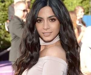 makeup, black hair, and brown eyes image