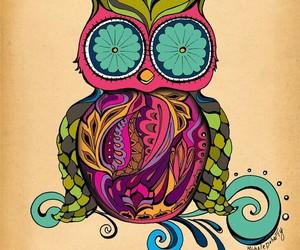owl, animal, and art image