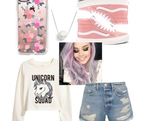 colored hair, fashion, and outfit image