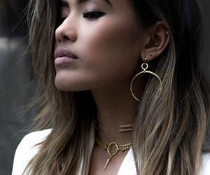 dress, earrings, and hair image