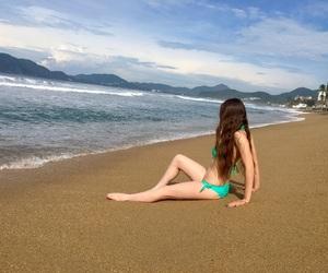beach, girl, and playa image