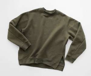 green and sweater image