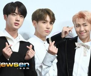 bts, jungkook, and seokjin image
