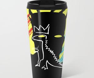 basquiat, drawing, and mug image