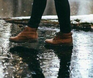 rain, shoes, and fall image