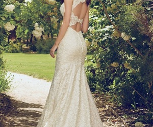 backless, bohemian, and bridal image