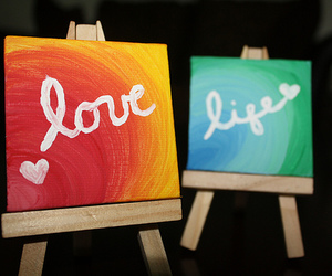 love, life, and paint image