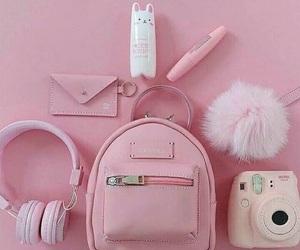 pink, bag, and camera image