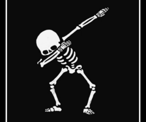 wallpaper, skeleton, and dab image