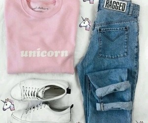outfit, tumblr, and unicorn image
