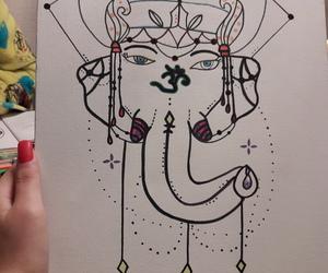 art, arte, and elephant image