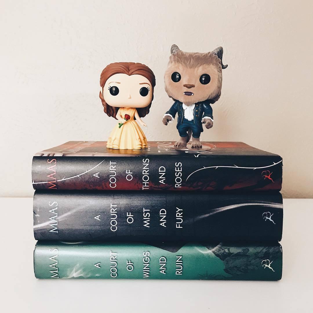 book, la bella y la bestia, and funko pops image