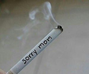 sorry, smoke, and cigarette image