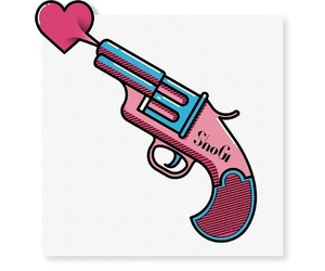 blue, blue and pink, and guns image