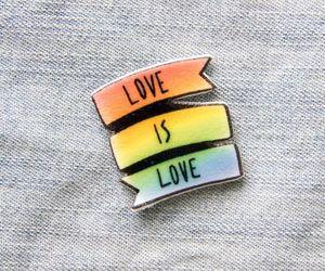 love and rainbow image