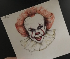art, clown, and draw image
