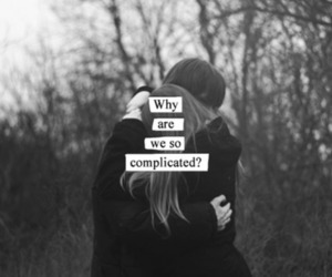 complicated, love, and couple image