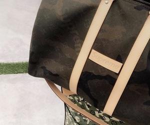 camo, luggage, and supreme image